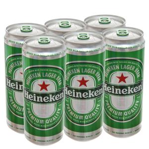 6 lon cao bia Heineken 330ml