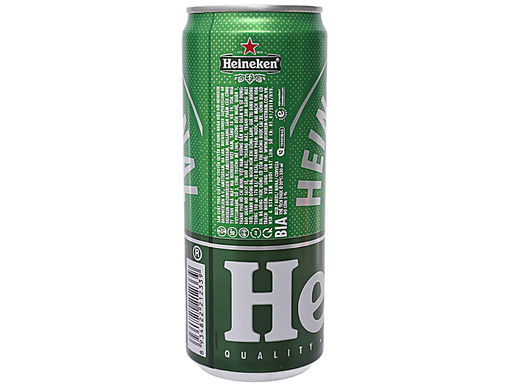 6 lon bia Heineken Sleek 330ml 3