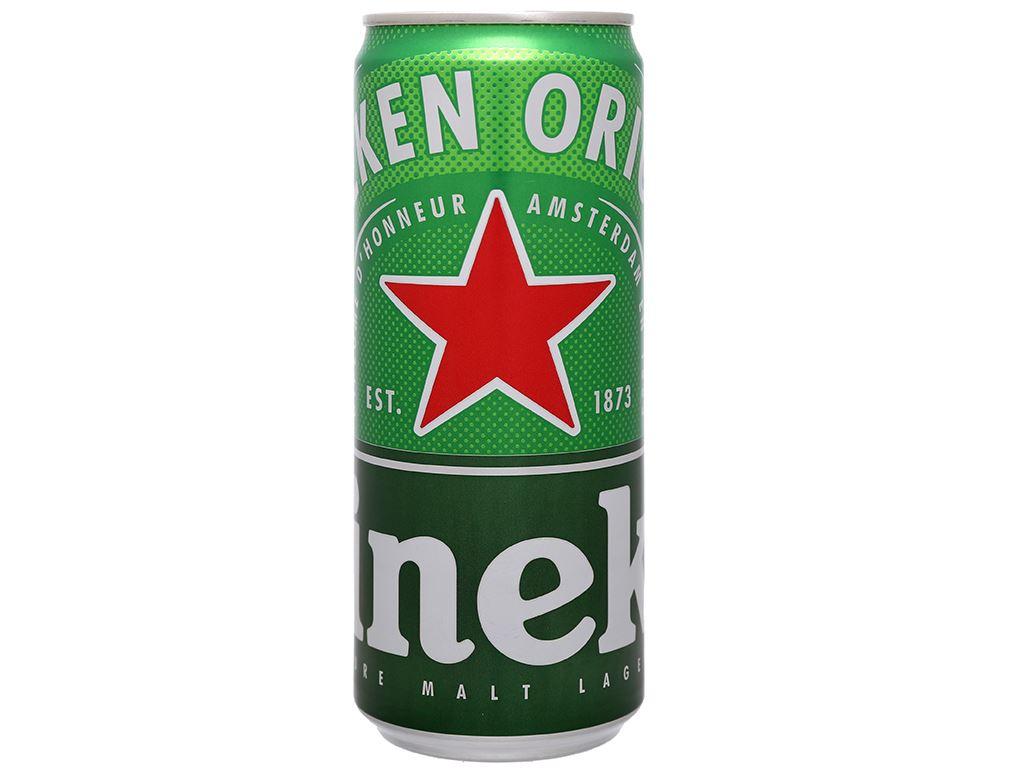 Thùng 24 lon bia Heineken Sleek 330ml 8