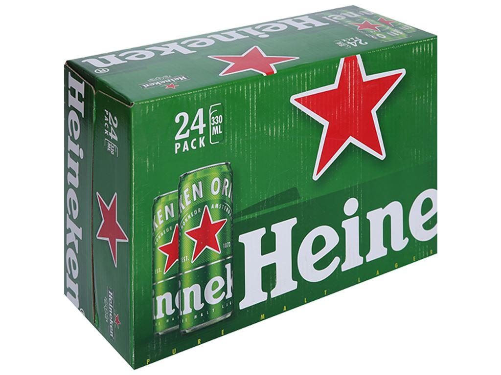 Thùng 24 lon bia Heineken Sleek 330ml 1