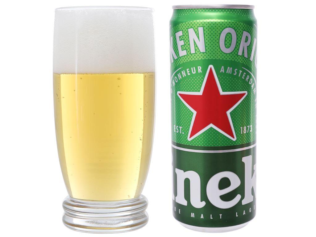 Thùng 24 lon bia Heineken Sleek 330ml 12