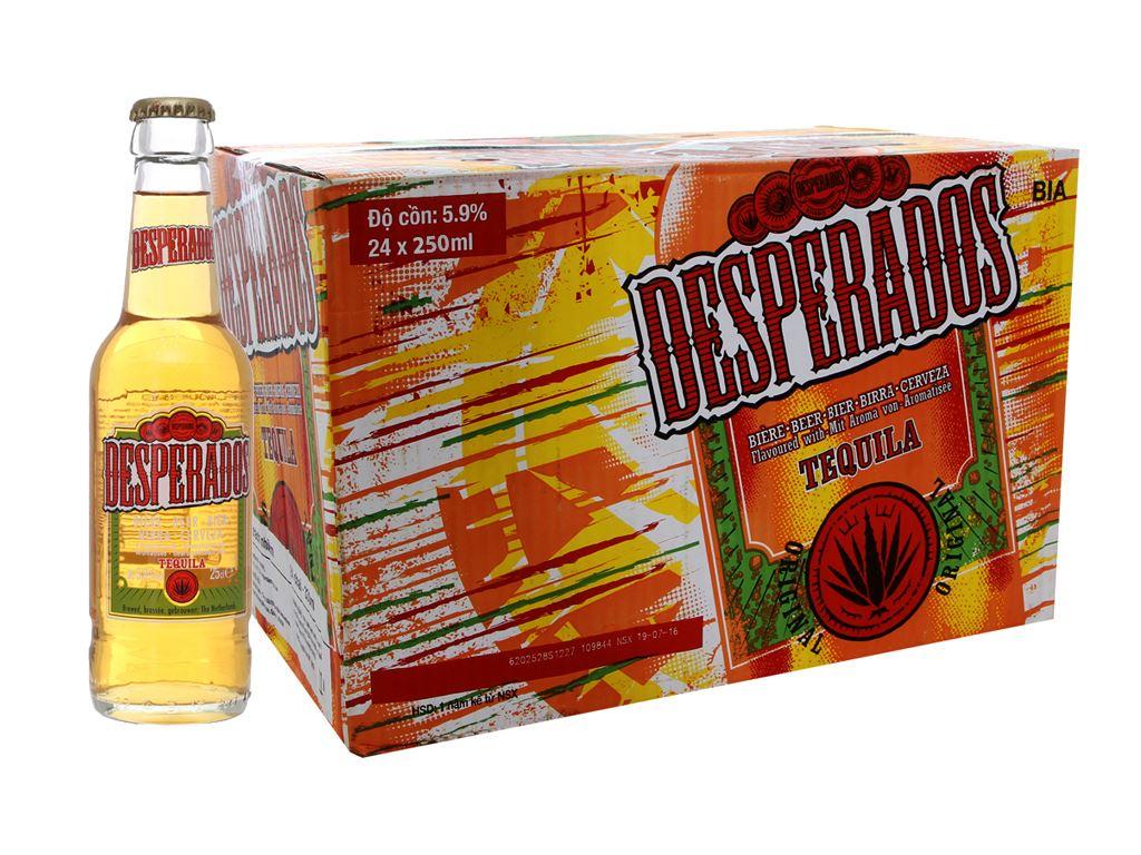Thùng 24 chai bia Desperados 250ml 1