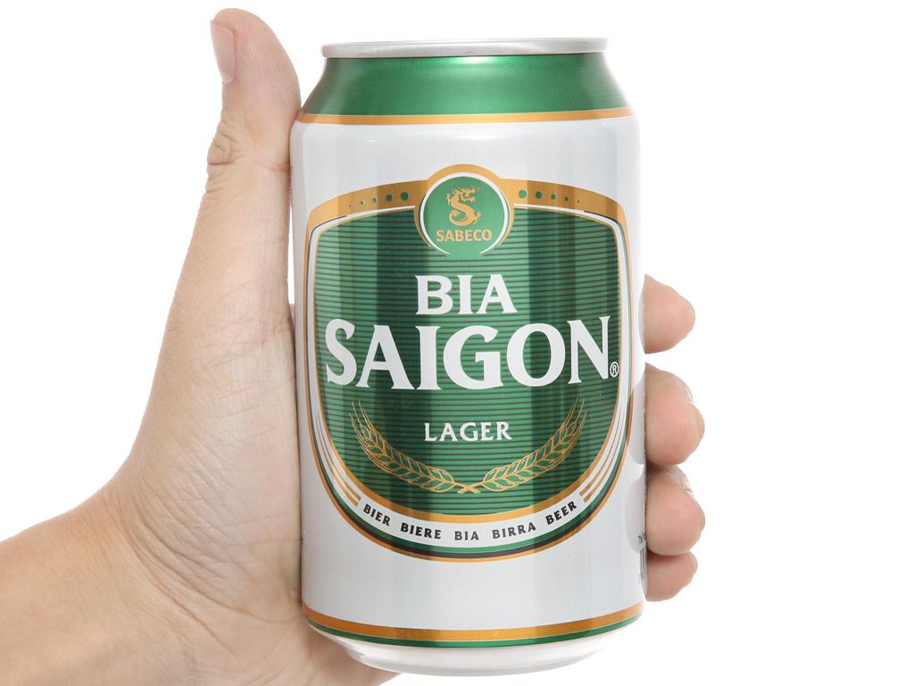 Thùng 24 lon bia Sài Gòn Lager 330ml 5