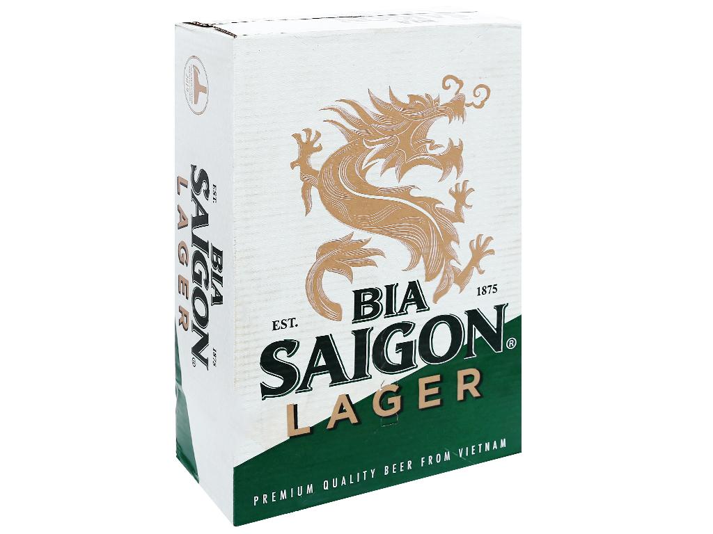 Thùng 24 lon bia Sài Gòn Lager 330ml 4