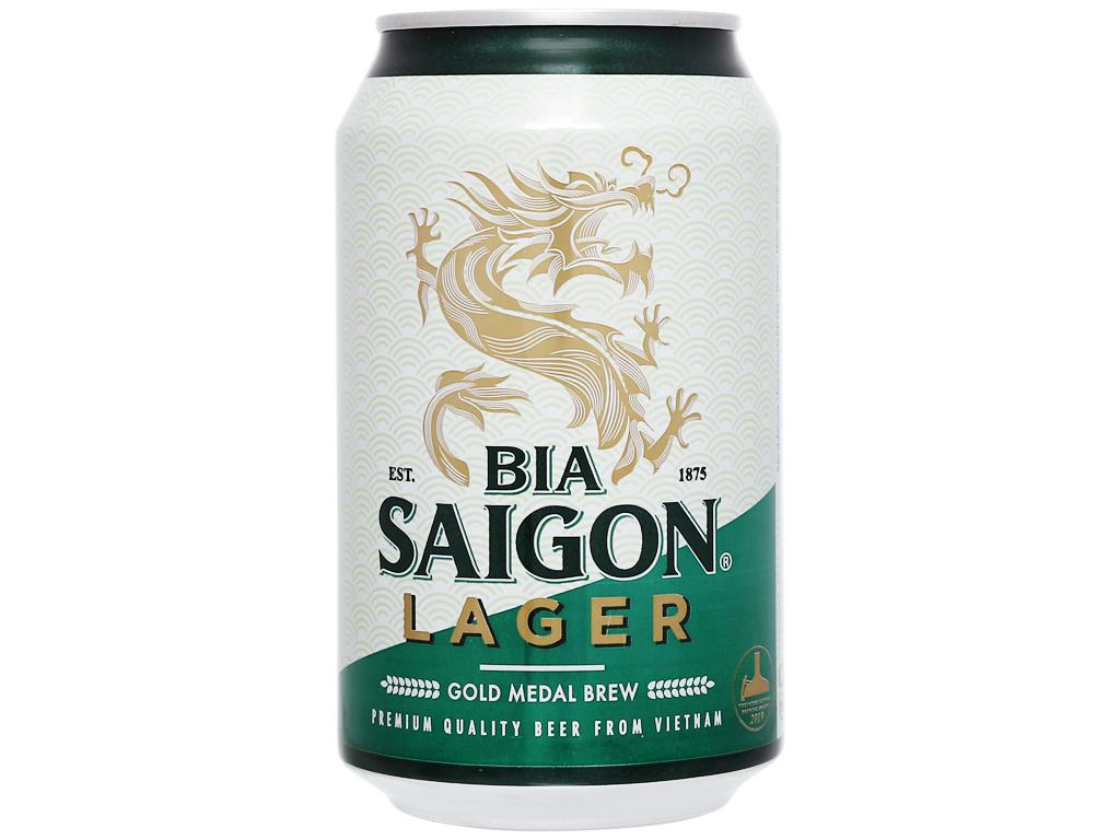 Thùng 24 lon bia Sài Gòn Lager 330ml 6