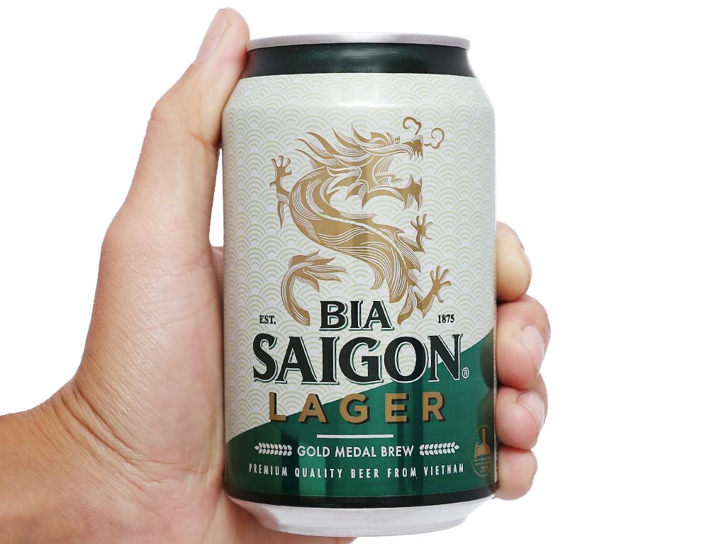 Thùng 24 lon bia Sài Gòn Lager 330ml 9