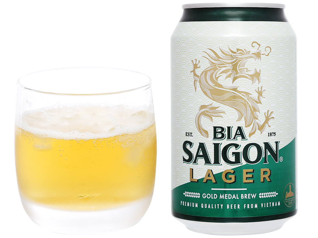 Thùng 24 lon bia Sài Gòn Lager 330ml 10