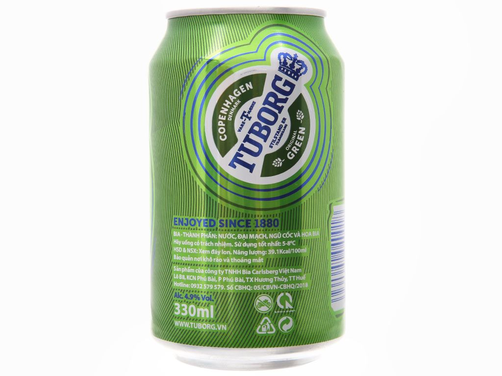 6 lon bia Tuborg 330ml 3