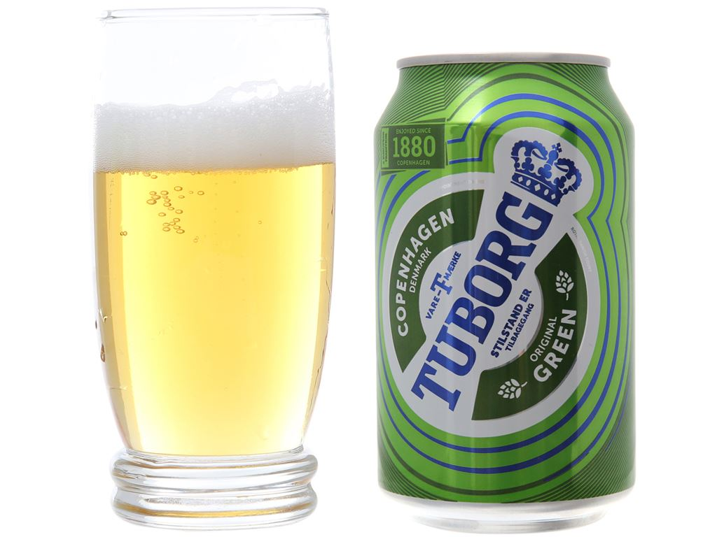 6 lon bia Tuborg 330ml 4