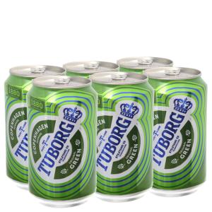 6 lon bia Tuborg 330ml