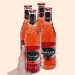 4 chai Strongbow dâu 330ml