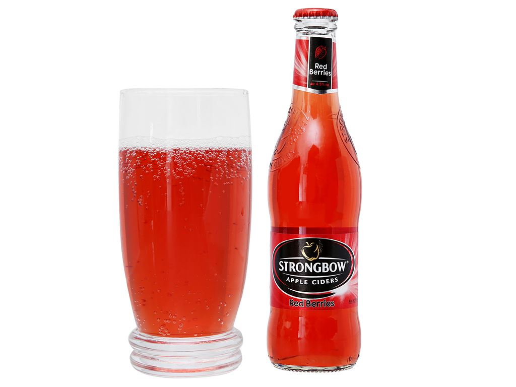 4 chai Strongbow dâu 330ml 12