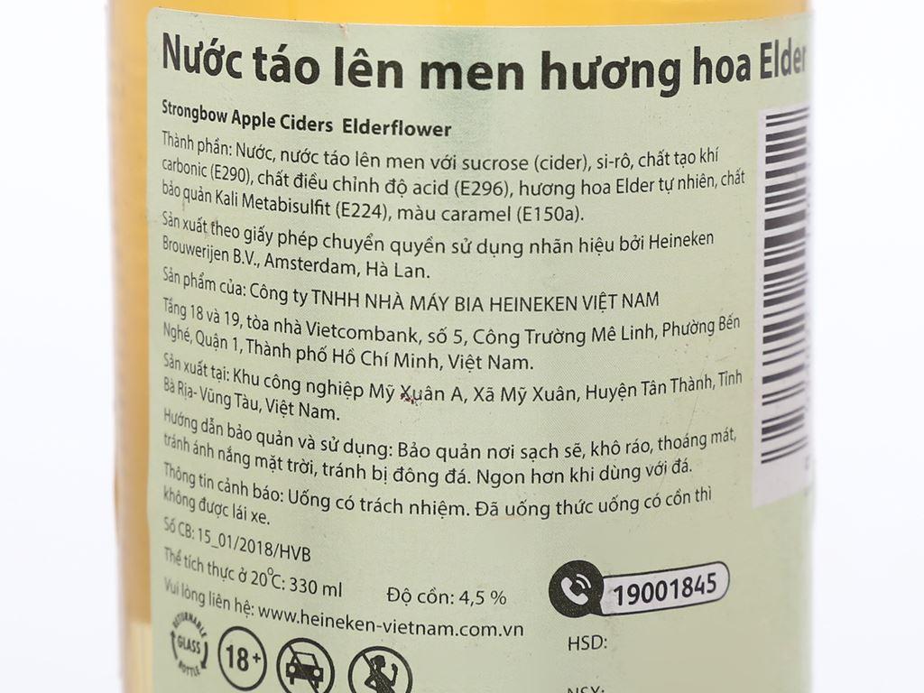 4 chai Strongbow hoa Elder 330ml 3