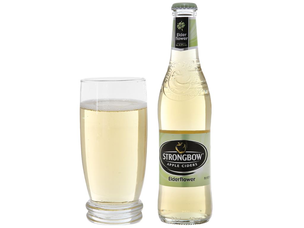 4 chai Strongbow hoa Elder 330ml 4