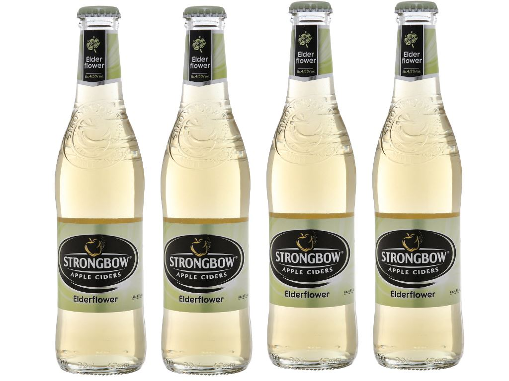 4 chai Strongbow hoa Elder 330ml 1