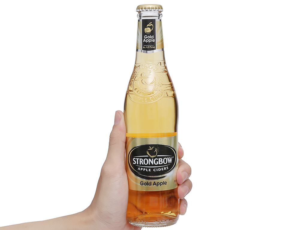 4 chai Strongbow táo 330ml 11
