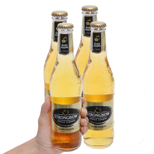 4 chai Strongbow táo 330ml