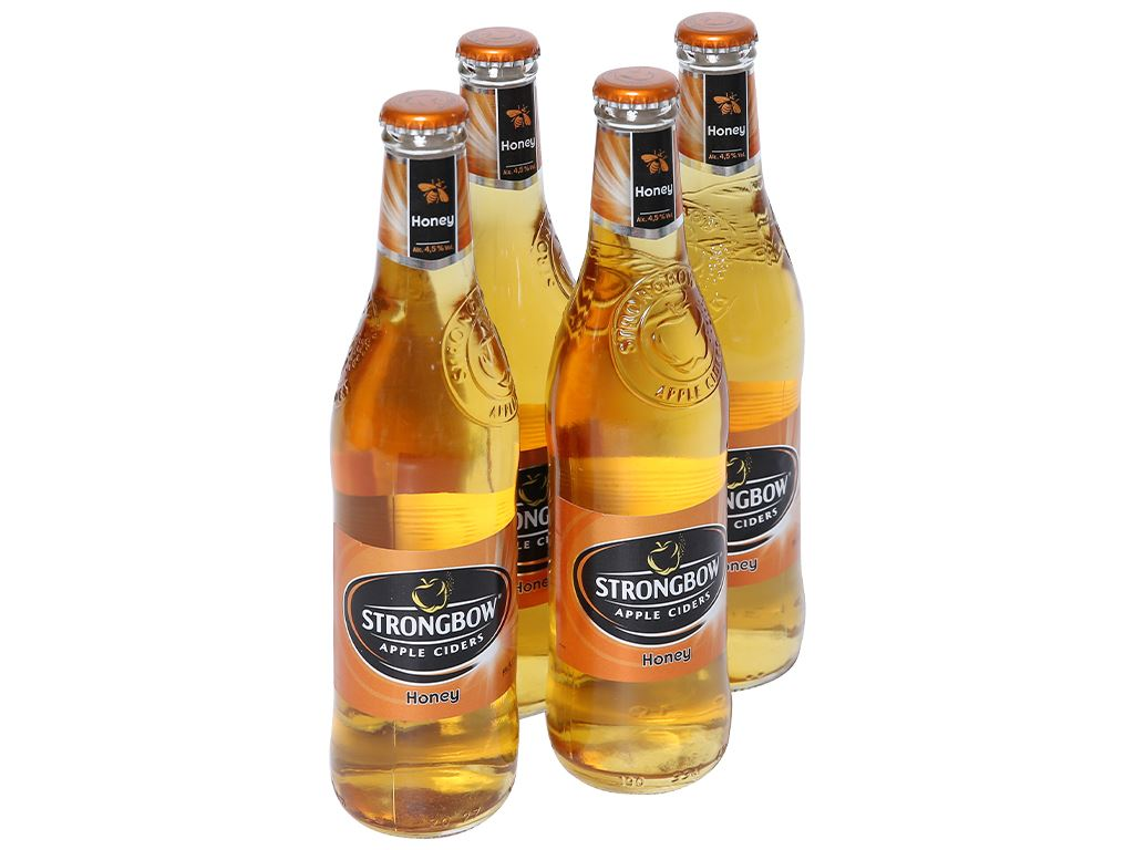 4 chai Strongbow mật ong 330ml 1