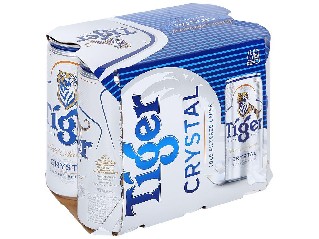 6 lon bia Tiger Crystal 330ml 1