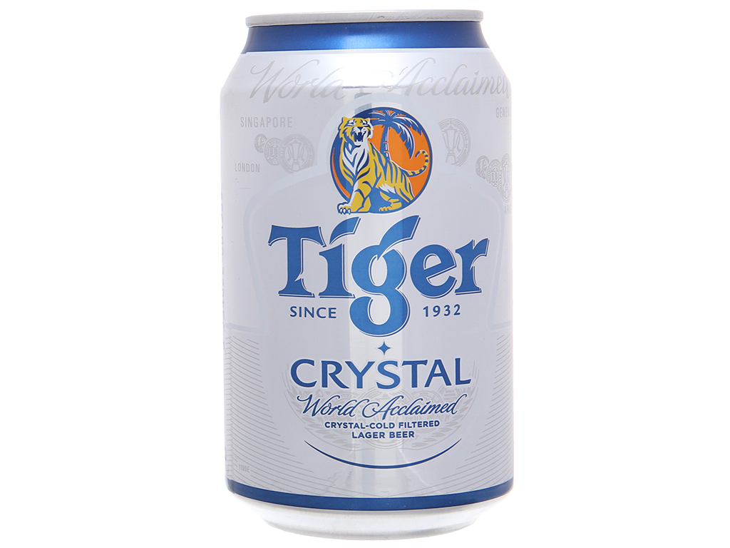 6 lon bia Tiger Crystal 330ml 3