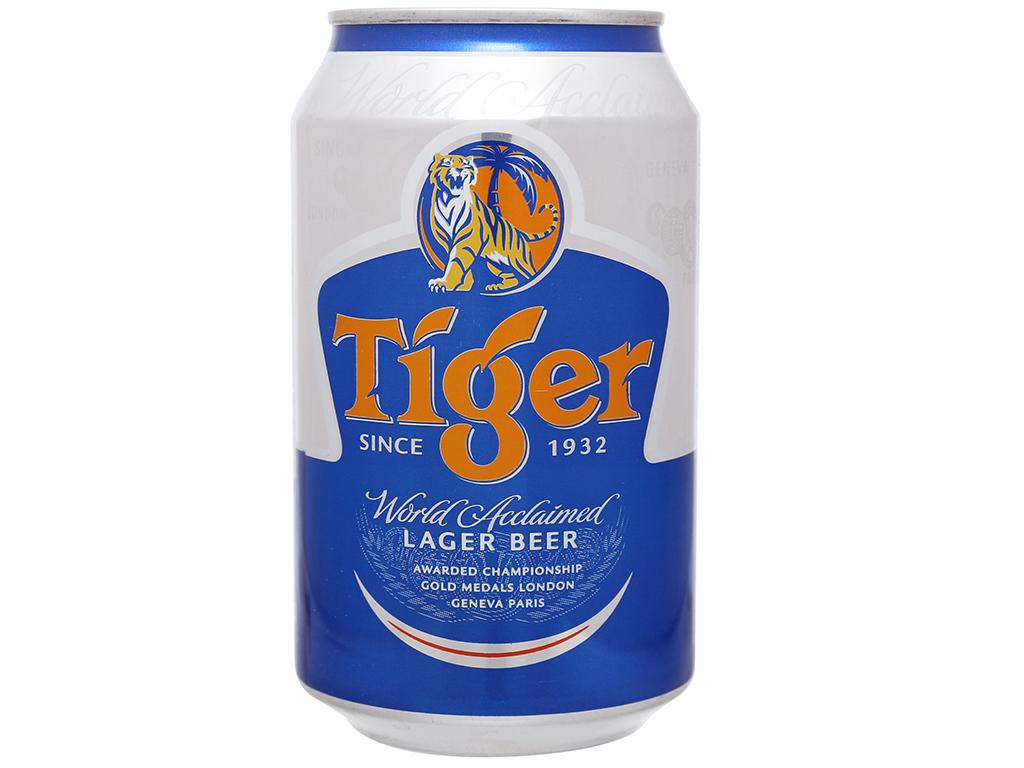 6 lon bia Tiger 330ml 2