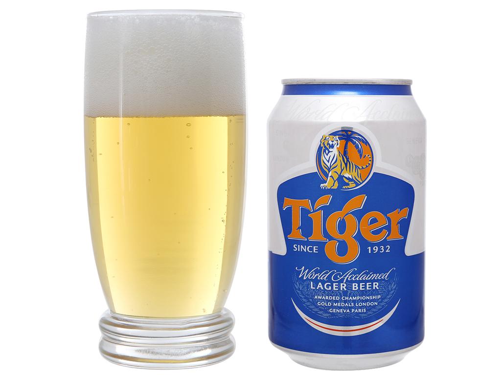 6 lon bia Tiger 330ml 6