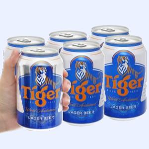 6 lon bia Tiger 330ml