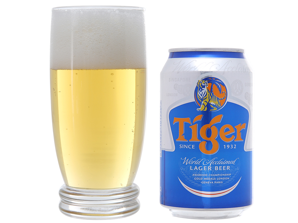 6 lon bia Tiger 330ml 4