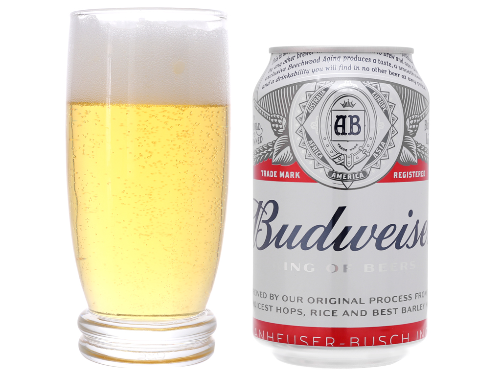Thùng 24 lon Bia Budweiser 330ml 4