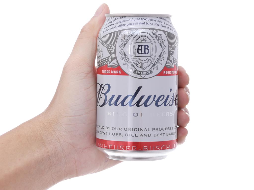 Thùng 24 lon bia Budweiser 330ml 5