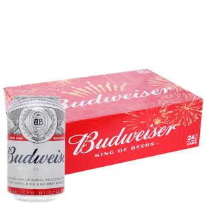 Thùng 24 lon bia Budweiser 330ml