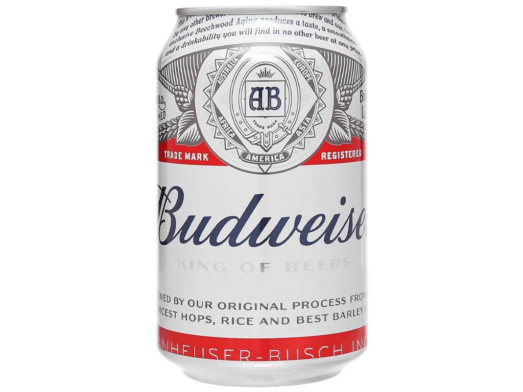 Thùng 24 lon bia Budweiser 330ml 12