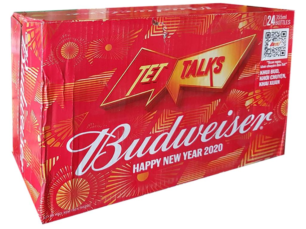 Thùng 24 lon bia Budweiser 330ml 11