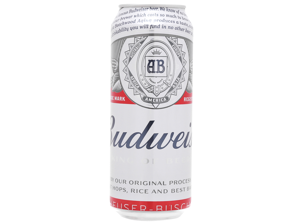 Thùng 12 lon bia Budweiser 500ml 2