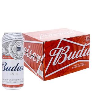 Bia Budweiser thùng 12 lon cao 500ml