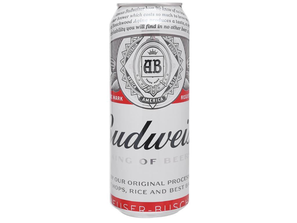 Thùng 12 lon bia Budweiser 500ml 8