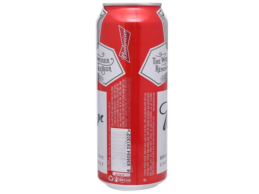 Thùng 12 lon bia Budweiser 500ml 9