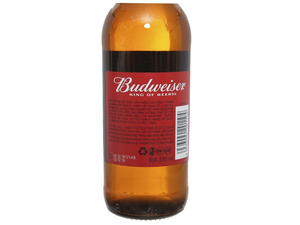 Bia Budweiser chai 330ml 3