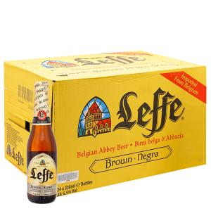 Thùng 24 chai Bia Leffe Blonde 330ml