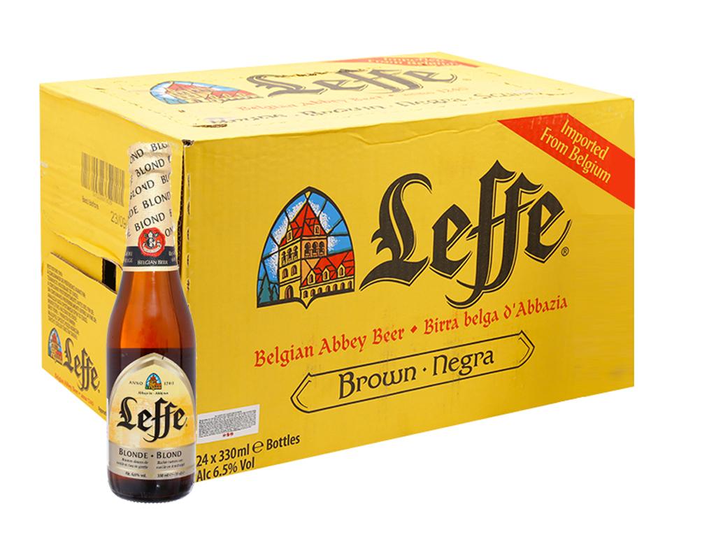 Thùng 24 chai bia Leffe Blonde 330ml 1