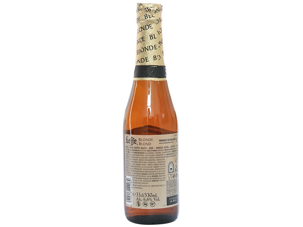 Thùng 24 chai bia Leffe Blonde 330ml 3