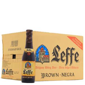 Thùng 24 chai bia Leffe Brune 330ml