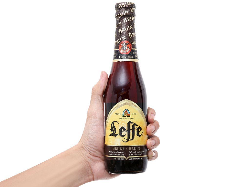 Thùng 24 chai bia Leffe Brune 330ml 5