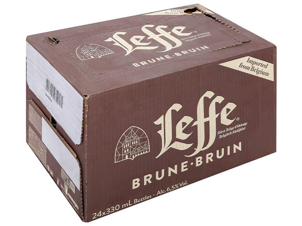 Thùng 24 chai bia Leffe Brune 330ml 1
