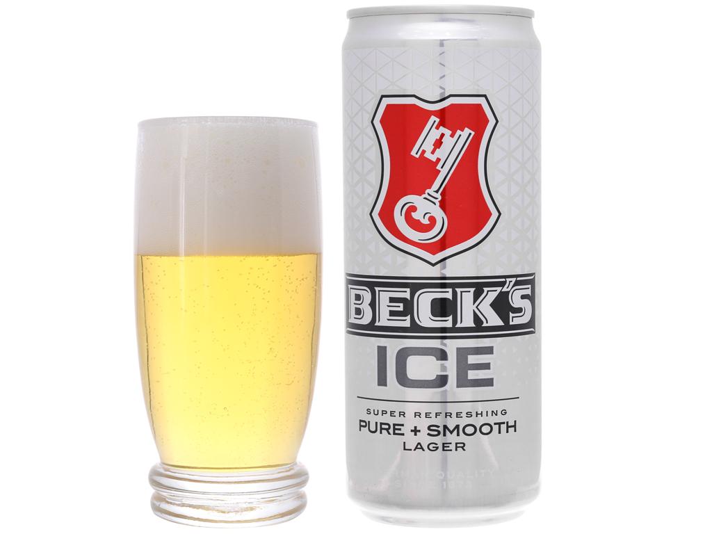 Thùng 24 lon bia Beck's Ice 330ml 4