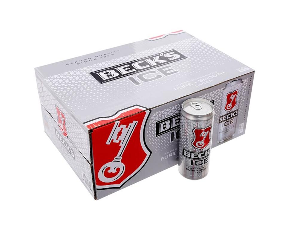 Thùng 24 lon bia Beck's Ice 330ml 1