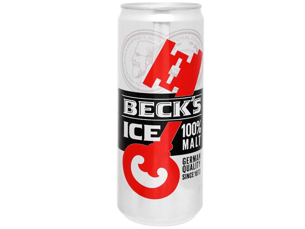 Thùng 24 lon bia Beck's Ice 330ml 9