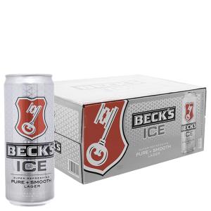 Thùng 24 lon Bia Beck's Ice 330ml