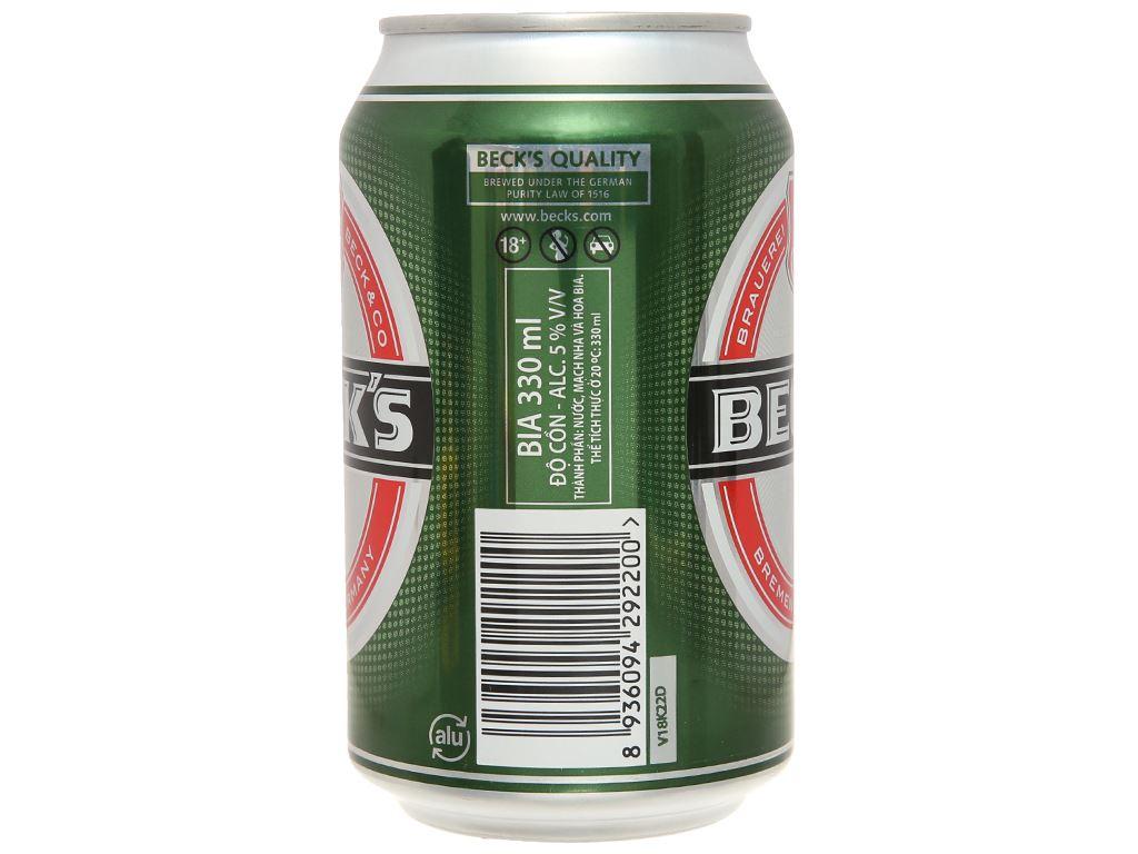 Thùng 24 lon bia Beck's 330ml 3