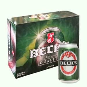 Thùng 24 lon bia Beck's 330ml
